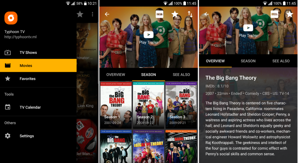 Typhoon TV APK 2.1.3 For Android Download - Watch Movies / Tv Shows