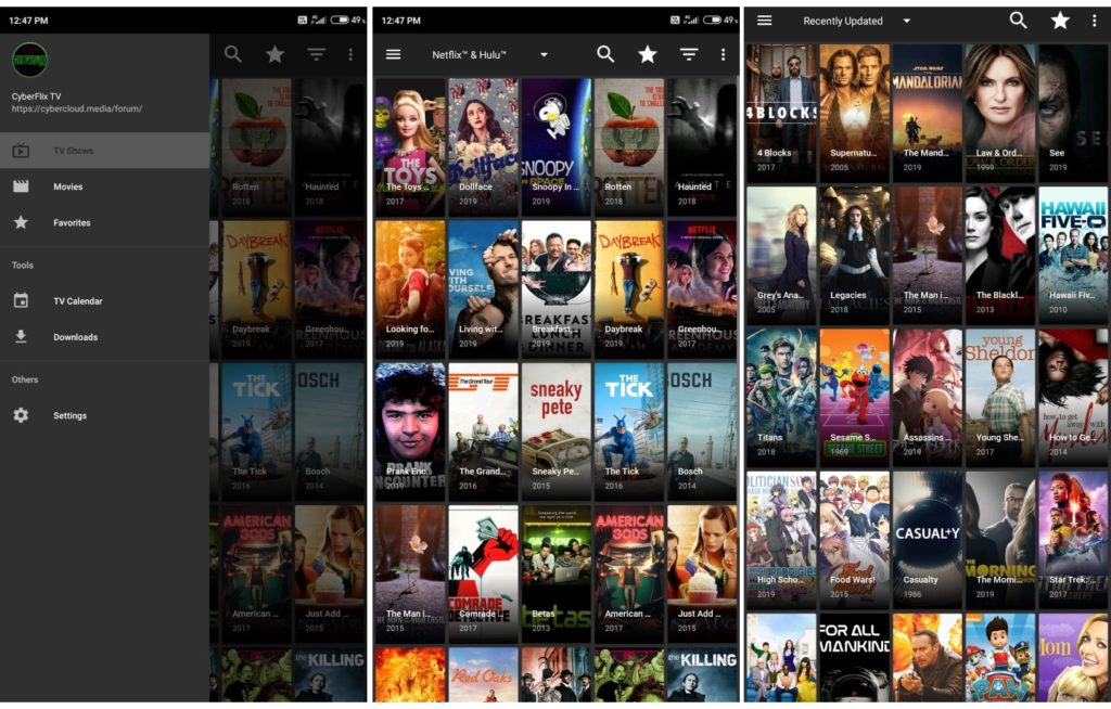 CyberFlix TV 3.1.6 for Android - Watch 1080p Movies - Netflix Shows