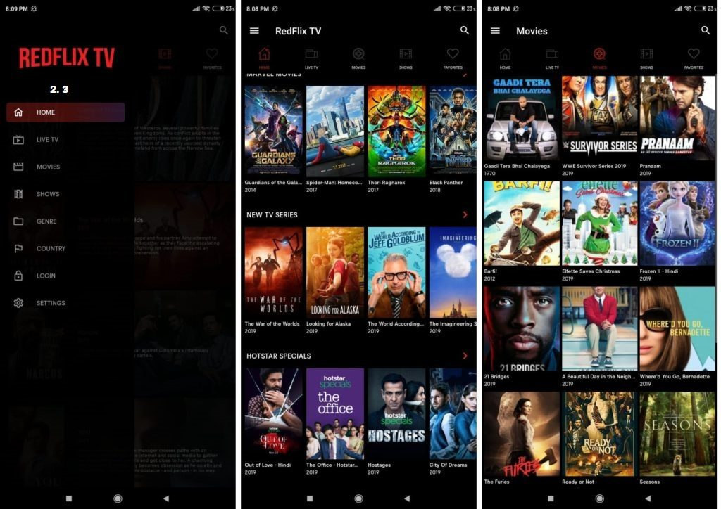 RedFlix Tv v2.3 Apk Download For Watch Movie-Netflix - Live Tv [2019]