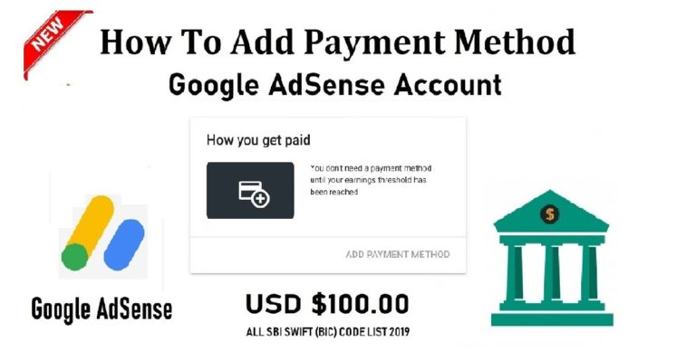 How To Add Payment Method in Google AdSense Account
