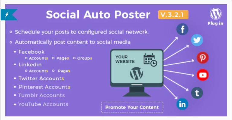 [Download] Social Auto Poster v2.8.4 - WordPress Plugin 2019