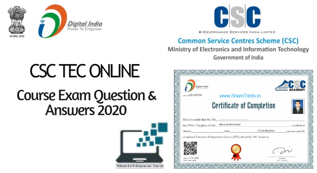 CSC TEC Online Course Exam Question and Answers 2020
