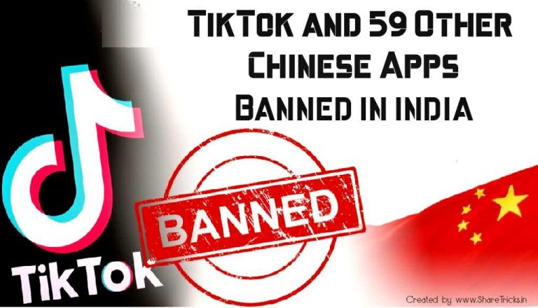 59 Chinese Apps Banned by India - TikTok, Shareit, UC Browser, Vault