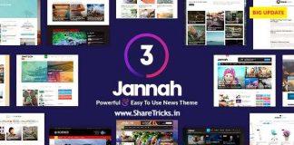 Jannah 3.2.0 WordPress Original Theme Free Download [2020]