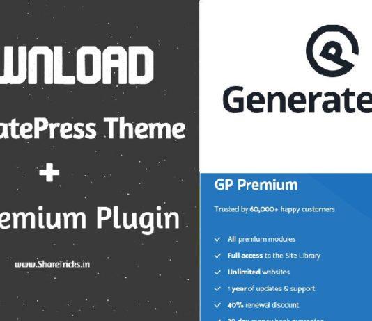 Free Download GeneratePress Premium v1.7.1 Theme With Key