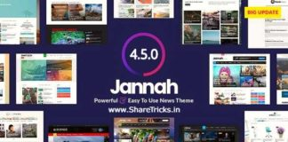 Jannah 4.5.0 WordPress Original Theme Free Download [2020]