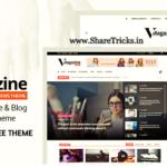 Vmagazine 1.1.5 Original WordPress Theme Free Download [2020]