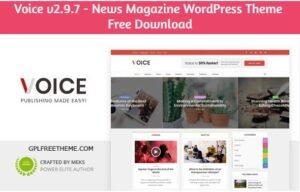Voice v2.9.7 - News Magazine WordPress Theme Free Download