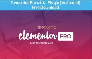 Elementor Pro v3.1.1 Plugin Free Download [Activated]