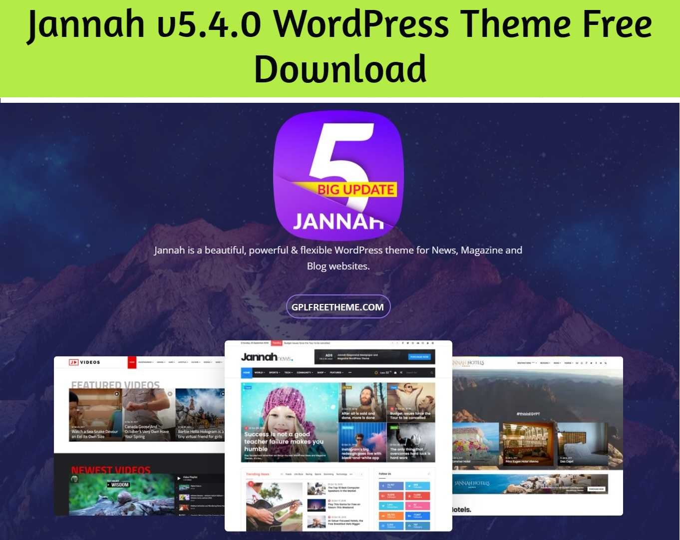 Jannah 5.4.0 WordPress Theme Free Download [Activated]