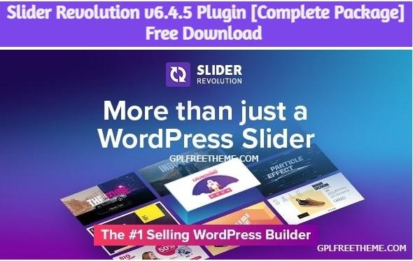 Slider Revolution v6.4.5 - Plugin Free Download [Complete Package]