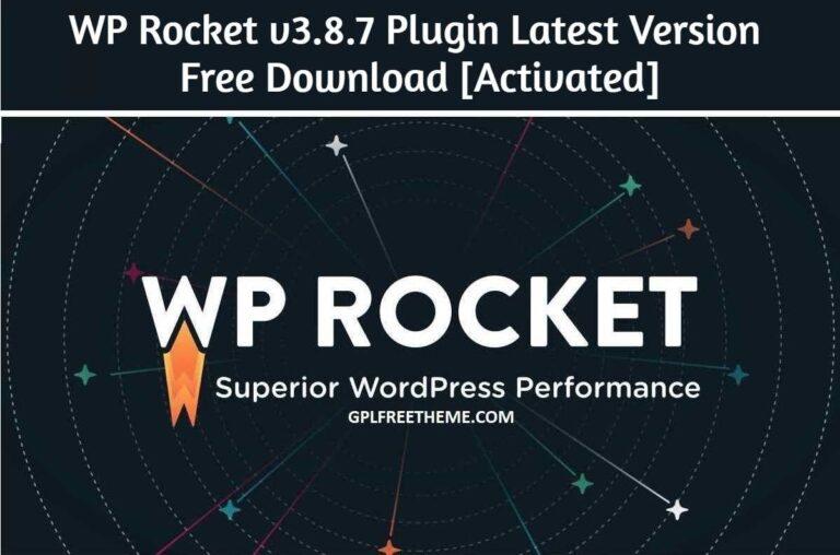 WP Rocket v3.8.7 - Plugin Latest Version Free Download [Activated]