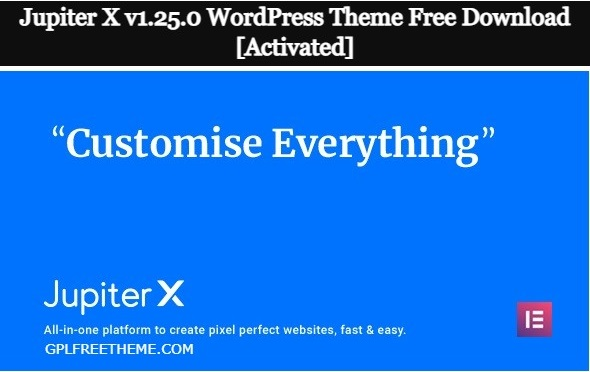 Jupiter X v1.25.0 - WordPress Theme Free Download [Activated]