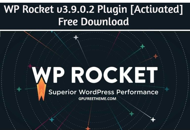 WP Rocket 3.9.0.2 Plugin Free Download [Activated]