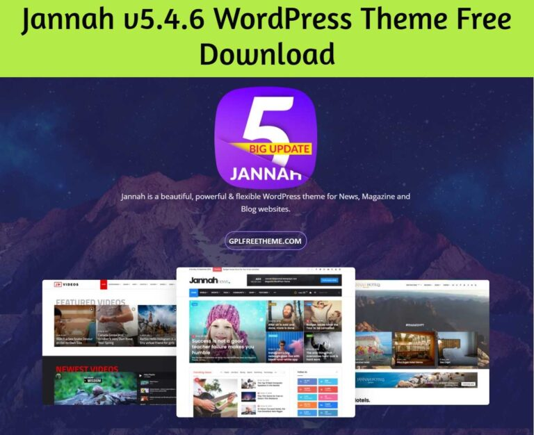 Jannah 5.4.6 WordPress Theme Free Download [Activated]
