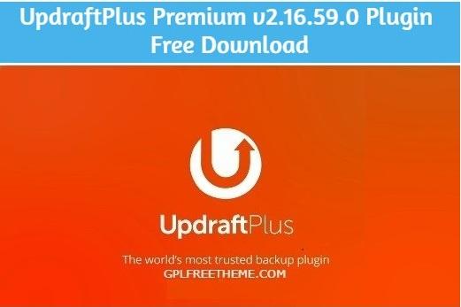 UpdraftPlus Premium v2.16.59.0 Plugin Free Download [Activated]