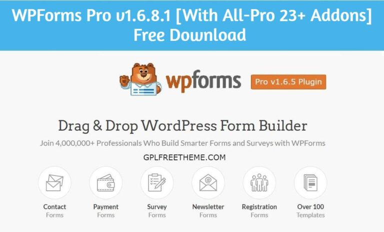 WPForms Pro 1.6.8.1 Free Download [With All-Pro 23+ Addons]